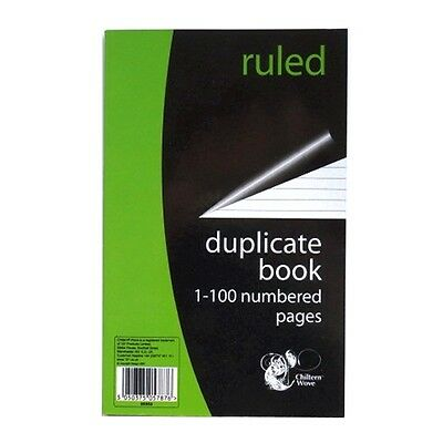 Duplicate Book - 1 to 100 Numbered Pages – Ruled and Perforated - 204mm x 127mm