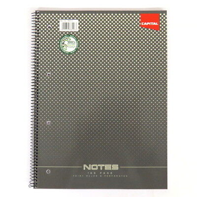 A4 Wirebound Notebook, Capital Range, 160 Pages, Ruled