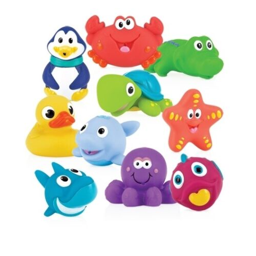 Nuby Little Squirts Bath Toy Squirters - Fun and Colorful - 6+ Months - BPA Free
