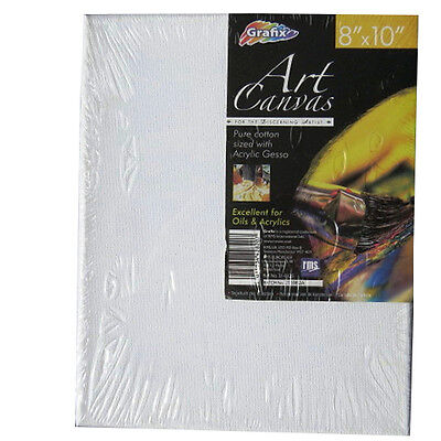 Artists Art Canvas - Cotton with Acrylic Gesson - Size 8 x 10 (250mm x 200mm)