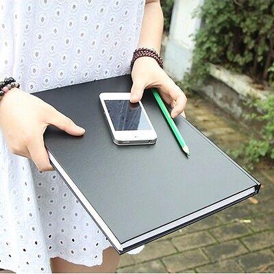 """Black Secret"" 1pc Notebook Sketchbook Drawing Blank Business Journal Diary Memo"