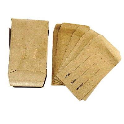 Lunch Money Seed Envelopes - Pack Of 50 Manila Envelopes - Size 2.8 X 3.9