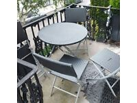 garden or patio folding rattan table and four chairs can deliver