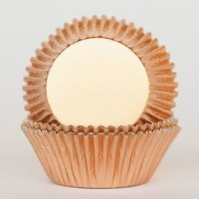 Rose Gold Copper Metallic Foil Standard Cupcake Liners Baking Cups Grease Proof