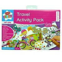 Activity & Travel Pack - Girls - 8 Travel Games And Puzzles With Crayons - anker - ebay.co.uk