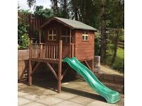 7 x 5 Waltons Wooden Playhouse with Slide