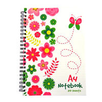 A4 Wirebound Notebook - Polka Dot Or Spring Garden Design - 160 Pages - chiltern wove - ebay.co.uk