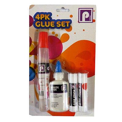 Mixed Glue Set – Pack of 4 - Glue Pen, White Glue and Glue Sticks