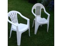 two large and comfortable garden chairs