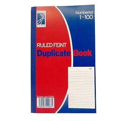 Duplicate Book - 1 to 100 Numbered Pages – Ruled - Size 206mm x 127mm