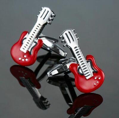 Gemelos camisa, guitar, guitarra electrica, music,red - Envio Certificado Gratis