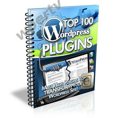 Wordpress Plugins Top Free 100 Must Have   Ebook On Cd
