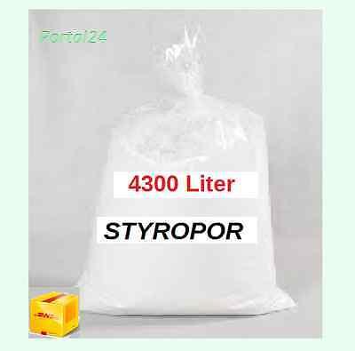 4300 L Styroporkugeln Schüttung  Styropor Granulat  Dämmung Schüttdämmung
