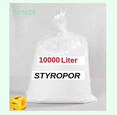 10 000 Liter Styroporkugeln Schüttung  Styropor   Dämmung Schüttdämmung 25X400 L