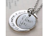 Silver Necklace and Pendent 'I Love You' Jewellery