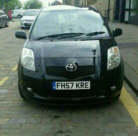 57 Toyota Yaris TR 1.3 Black 5 Door Petrol. 64000 Genuine Mileage. HPI Clear. Full Service History