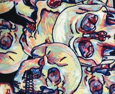 LuLaRoe Leggings  Kids L/XL  BLACK ~ SKETCH SKULLS Skeleton ~ Halloween UNICORN
