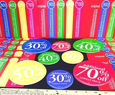New 85 Piece Set Retail Store Sale Tags Signs Price Legends Make Offer