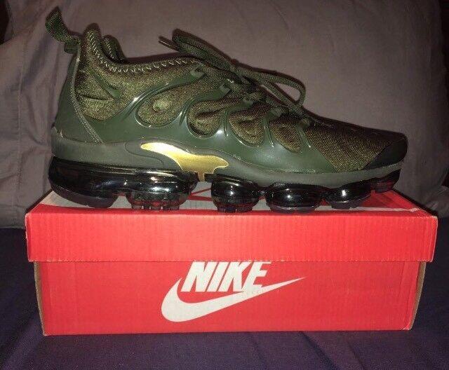 7d394e7c9fb6 Nike Air Vapormax TN Plus TUNED Khaki Green Gold Men s UK 10 Trainers BNIB