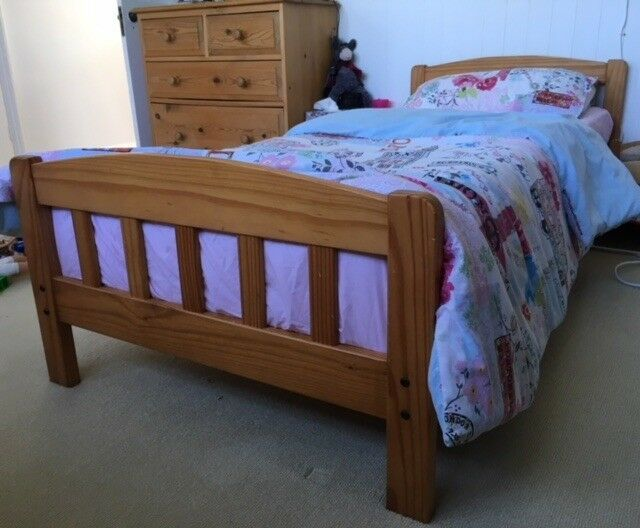 Small Single Wooden Pine Slatted Bed Frame Small Single Size Not Single In Pinner London Gumtree