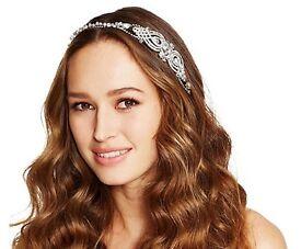 Hair accessories No. 1 Jenny Packham Designer crystal swirl and ribbon headband