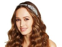 Hair accessories No. 1 Jenny Packham Designer crystal swirl and ribbon headband