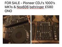 Looking For A Good Home - Pioneer CDJ<S 1000 MK1s & NOX606 Behringer mixer £550.00