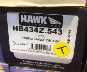 Hawk Performance ceramic Brake pads for Subaru