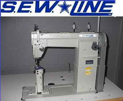 SEWLINE 810F NEW 1-NEEDLE POSTBED FLAT FOOT  W/REVERSE INDUSTRIAL SEWING MACHINE