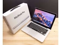 AS NEW MACBOOK PRO 13 INCH 3.0GHZ i5, 4-16GB DDR3 RAM, 500gb, OFFICE 2016, ADOBE CS6