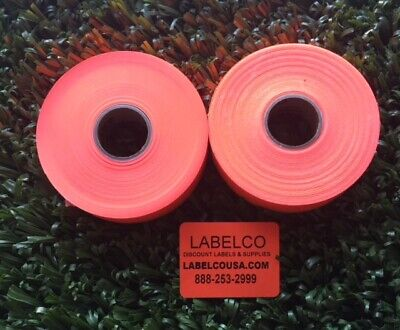 Monarch 1136 2 Line Fluorescent Red Labels 2 Rolls 3500 Labels Usa Made