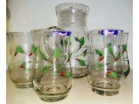 Glass Jug with 4 glass set