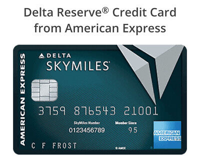 Delta Reserve  Credit Card  From American Express Referral 40 000 Bonus Miles