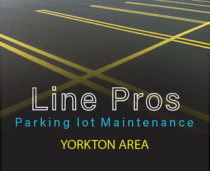 Line Pros | Parking lot maintenance. YORKTON AREA Line Painting
