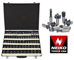 "NEW NEIKO 80PC ROUTER BIT SET 1/2"" Tungsten, Carbide Shank Power Tool Accessories  Router Accessories 104315928"