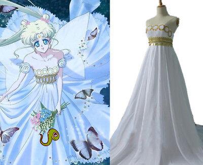 n Princess Tsukino Usagi Cosplay Costume Fancy Chiffon Dress (Halloween-sailor Moon)