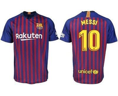 a0ff1deeadc FC Barcelona Men's Home Jersey Football Soccer Adult Short Sleeve Top