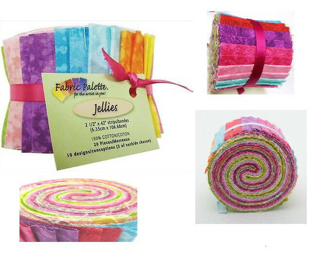 """Jelly Roll - New Top Textures Jellies 2.5"""" X 42"""" 20/Pkg From Fabric Palette"""