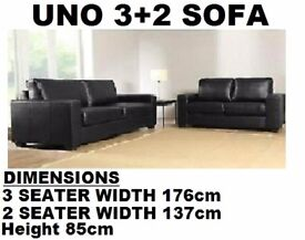 3+2 LEATHER SOFA SET - LAST FEW SETS TO CLEAR