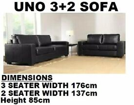 3+2 leather sofa set brown or black