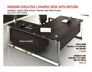 All Commercial Quality Modern Executive Desks 20%-30% OFF!