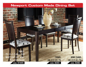 Custom Canadian Made by Amisco-Dinec Dining Sets Now 20% OFF!