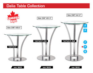 20% OFF All Custom Canadian Made by Amisco-Dinec Dining Sets!