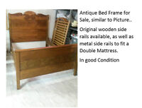 Antique Bed Frame in good condition