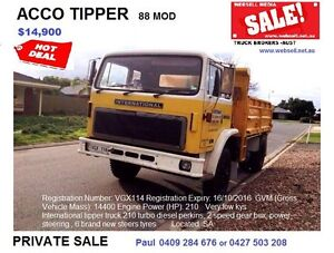 Tippers prime movers & more. Call now Melbourne City Preview