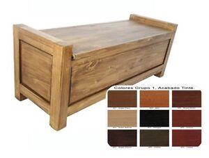 Ba l de madera descalzadora dormitorio pasillo 110 x45 for Baul dormitorio matrimonio