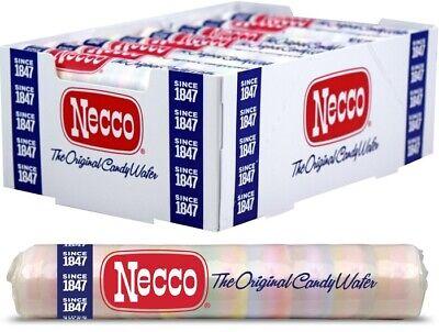 Necco Wafers Original Assorted Candy Full Sealed Box - 24 Rolls per Box