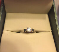 14kt white gold  0.35ct solitaire engagement ring for sale