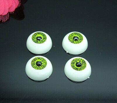 20pcs(10pairs) Green Plastic Fake Eyes Eyeballs for Mask Doll Bear Toy 16mm