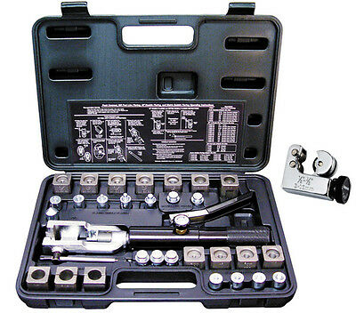 Mastercool 71475-PRC Universal Hydraulic Flaring Tool Set + Free Tube Cutter